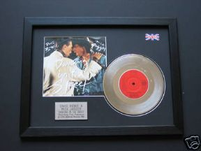 "DAVID BOWIE & MICK JAGGER - Dancing In The Street 7"" Platinum DISC"
